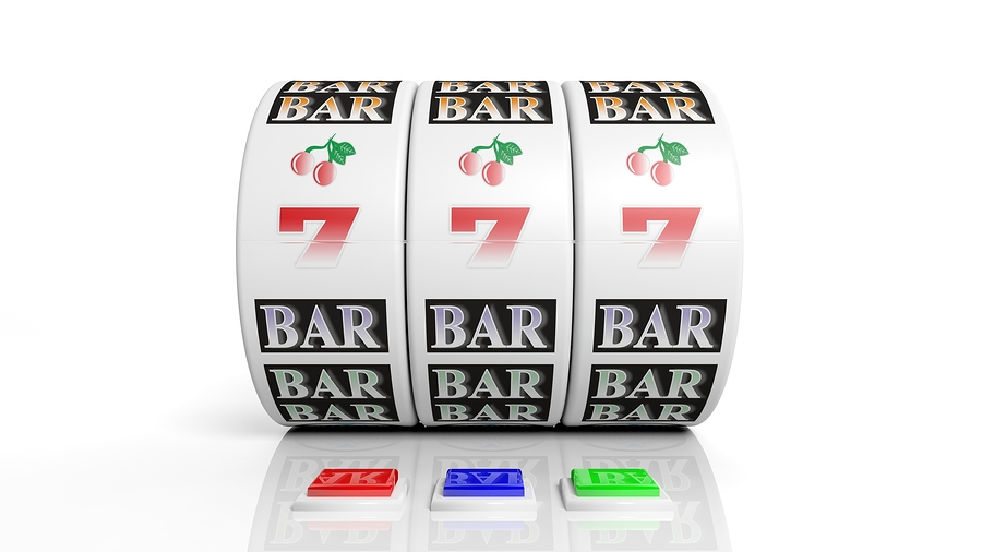 bigstock Slot fruit machine display wit 59052437 Slotsmaskiner
